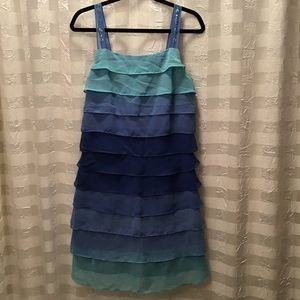 Signature by Robbie Bee Blue Tonal Dress, Size 10
